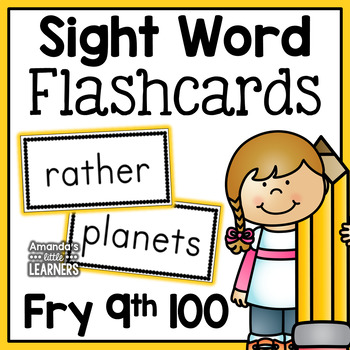 Fry Ninth Hundred Sight Word Flash Cards
