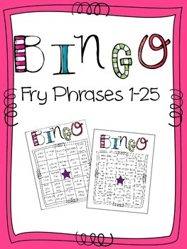 Fry Phrase Bingo