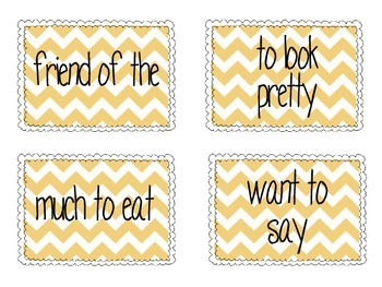 Fry Phrase Cards for Reading Fluency : Lists 5-8