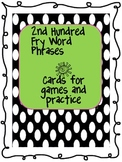 Fry Phrase Cards for Games & Practice - 2nd Hundred Phrases