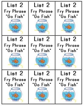 "Fluency ""Go Fish"" (Fry Phrases)"
