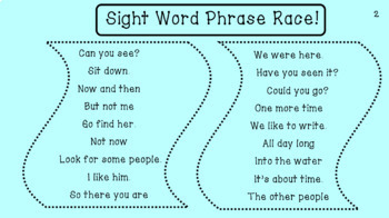 Fry Phrase Fluency Races