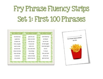 Fry Phrase Fluency Fan Sets 1 - 6