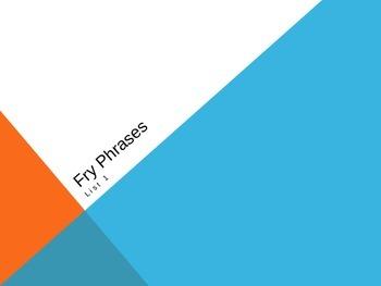 Fry Phrase List 1