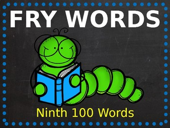 Fry Phrase PowerPoint - Ninth 100 Words!