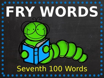 Fry Phrase PowerPoint - Seventh 100 Words!
