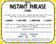 Fry Phrase Strips for Binder Rings - Set 4