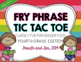 Fry Phrase Tic Tac Toe: Fourth Grade Edition