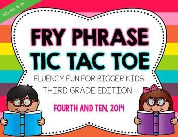 Fry Phrase Tic Tac Toe: Third Grade Edition