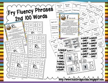 Fry Phrases (1st-4th) Fluency Games and Intervention Set Bundle