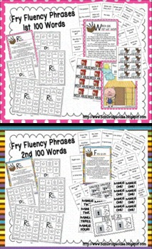 Fry Phrases (1st-6th 100 Words) Fluency Games and Intervention Set Bundle
