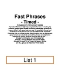Fry Phrases Flash cards list 1-2