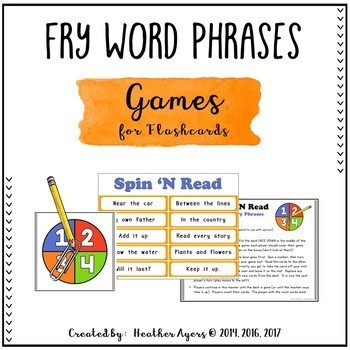 Fry Word Phrases Fluency BUNDLE (Flashcards, Games, Assessments)