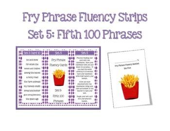 Fry Phrases Fluency Fan Set 5