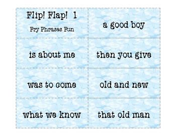 Bundled! Fry Phrases Fun Games with 24  Flip! Flap! Word Sets