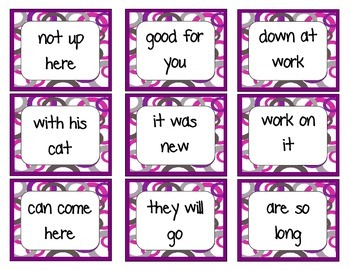 Fry Phrases 1: Left, Right, Center Game