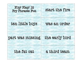 Fry Phrases Reading Game: Flip! Flap! 12