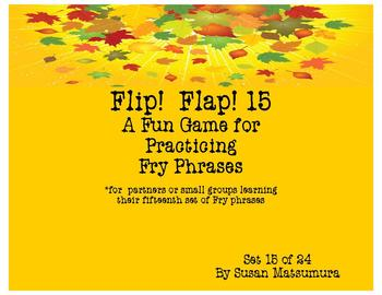 Fry Phrases Reading Game: Flip! Flap! 15