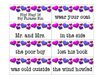 Fry Phrases Reading Game: Flip! Flap! 16