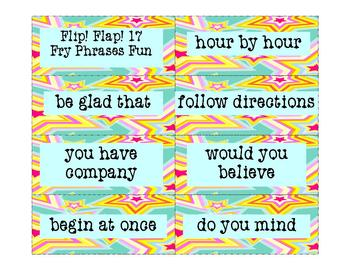 Fry Phrases Reading Game:  Flip! Flap! 17