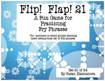 Fry Phrases Reading Game:  Flip! Flap! 21