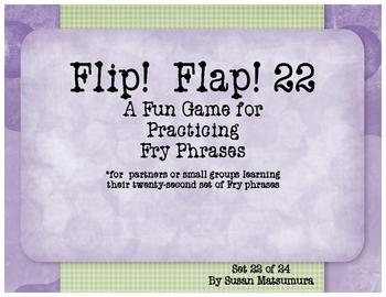 Fry Phrases Reading Game:  Flip! Flap! 22
