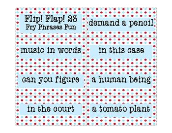 Fry Phrases Reading Game:  Flip! Flap! 23