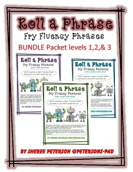 Fry Phrases Roll a Phrase  BUNDLE levels 1,2,& 3