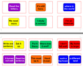 Fry Phrases Sight Word Cards for Candyland Set 2B