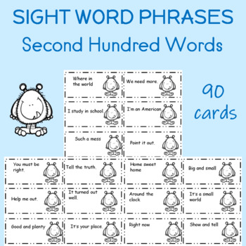 Sight Word Fluency Phrases Third Hundred Words