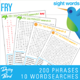 Fry Phrases Word Searches