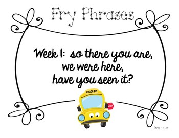 Fry Phrases and Games for the year!
