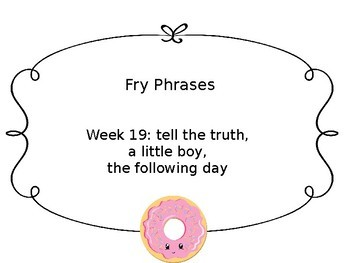 Fry Phrases- first 8 weeks FREE