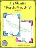 "Fry Phrases (list 1-6) ""Search-Find-Write"" Activity"