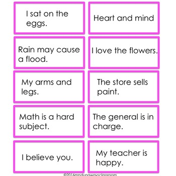 Fry Phrases with 6th 100 Words