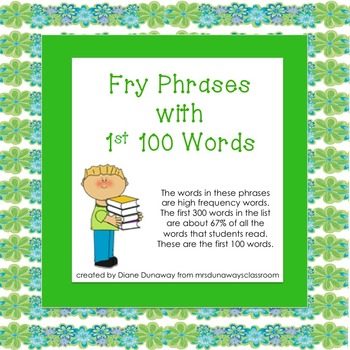 Fry Phrases with First 100 Words