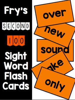 Fry Second 100 Flash Cards & Data Sheets
