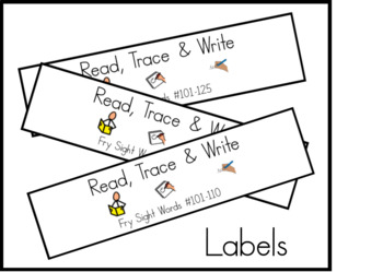 Fry Second 100 Read Trace and Write Task Cards