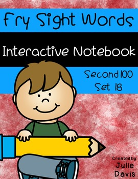 Fry Second 100 Set 18 Sight Word Interactive Notebooks
