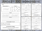 Fry Second 100 Sight Words Practice Sheets, T- 211