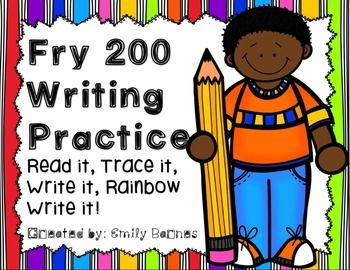 Fry Second 100 Writing Practice