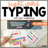 Fry Second 500 Sight Word Keyboarding | Sight Word Activit