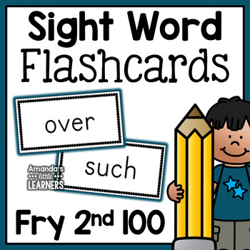 Fry Second Hundred Sight Word Flashcards