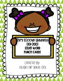 Fry Sight Word Practice Punch Cards Second Hundred (101-200)