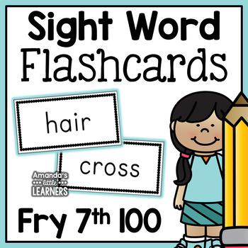 Fry Seventh Hundred Sight Word Flashcards