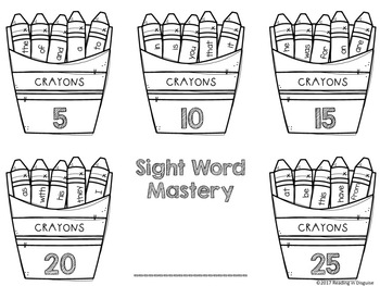 Fry Sight Word Activities Data Tracking