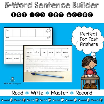 Fry Sight Word Activities Sentence Builder Review