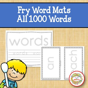 Fry Sight Word Activities Worksheets with Q Tip Painting All 1000 Sight Words