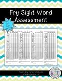 Fry Sight Word Assessment