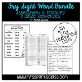 Fry Sight Word Assessment & Cloze Sentences Bundle (1st &